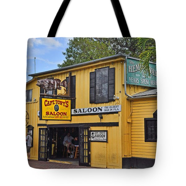 Captain Tony's Saloon Tote Bag by Chris Thaxter