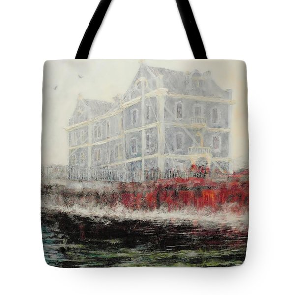 Captains Manor In The Fog Tote Bag by Michael Durst