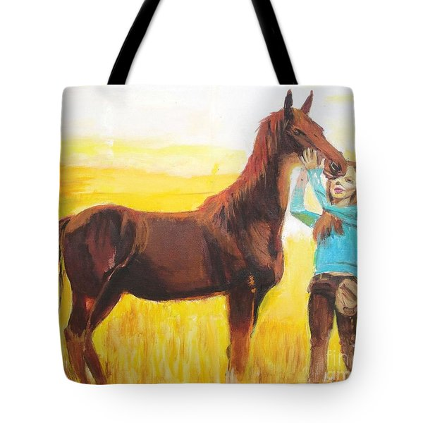 Captive Audience Tote Bag by Judy Kay