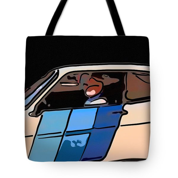 Car Driving By Tote Bag by Toppart Sweden