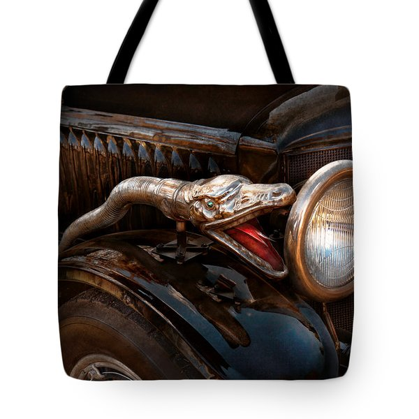 Car - Steamer - Snake Charmer Tote Bag by Mike Savad