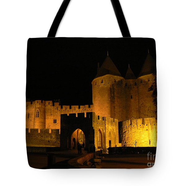 Carcassonne at Night Tote Bag by FRANCE  ART