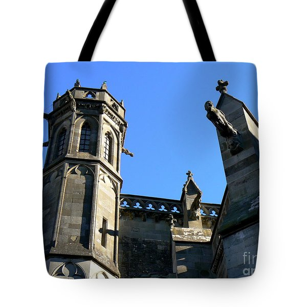 Carcassonne's Cathedral Tote Bag by FRANCE  ART