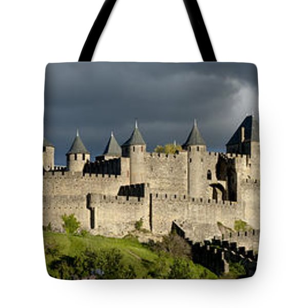 Carcassonne Panorama Tote Bag by Robert Lacy