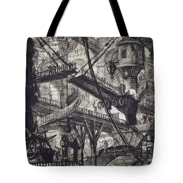 Carceri Vii Tote Bag by Giovanni Battista Piranesi