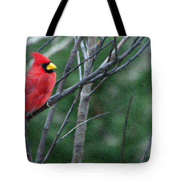 Cardinal West Tote Bag by Jeff Kolker
