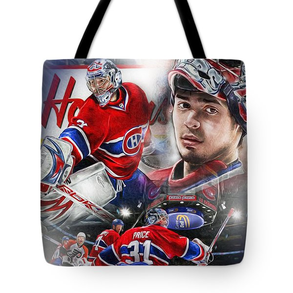 Carey Price Tote Bag by Mike Oulton