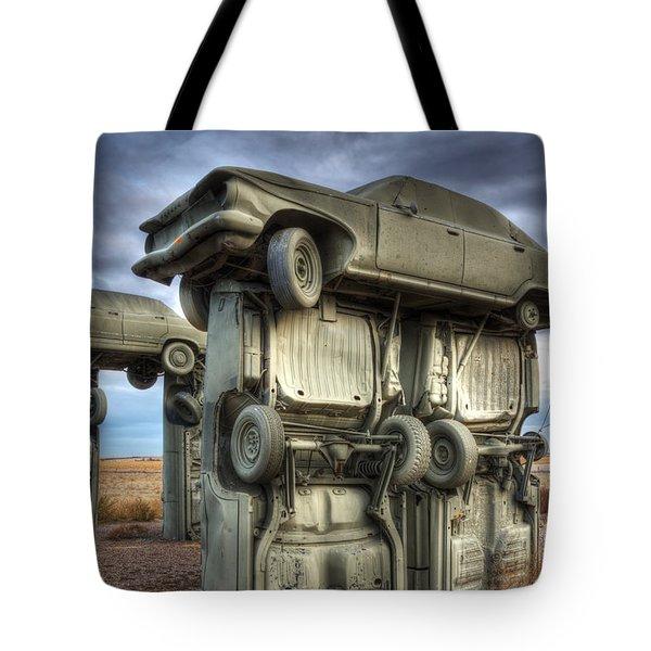 Carhenge Automobile Art 2 Tote Bag by Bob Christopher