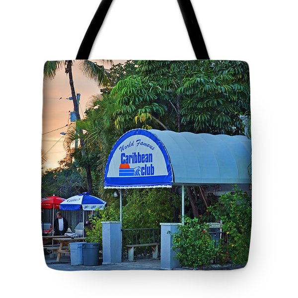 Caribbean Club Key Largo Tote Bag by Chris Thaxter