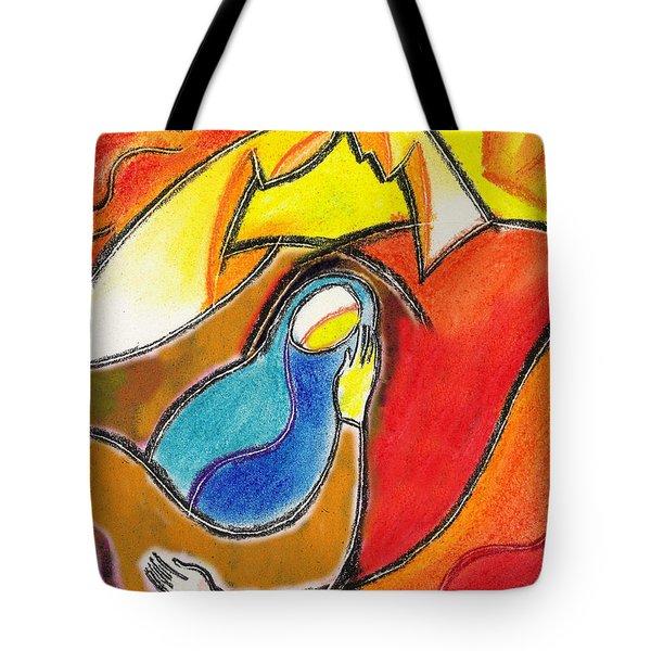 Caring Tote Bag by Leon Zernitsky