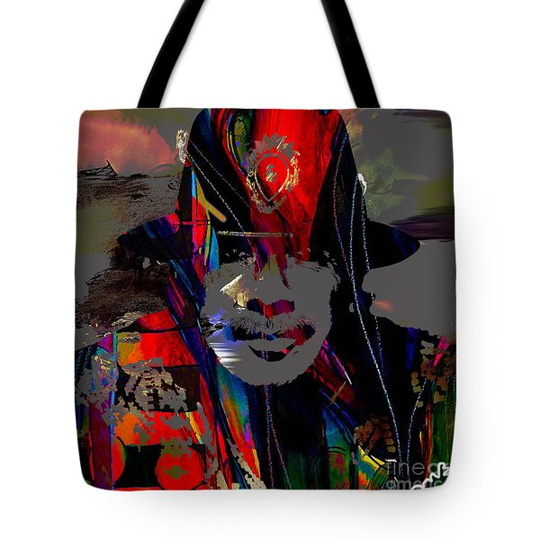 Carlos Santana Collection Tote Bag by Marvin Blaine