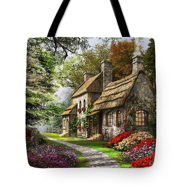 Carnation Cottage Tote Bag by Dominic Davison