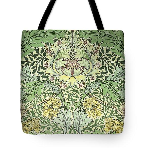 Carnations Design Tote Bag by William Morris