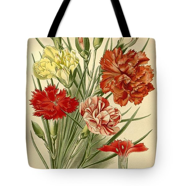 Carnations Tote Bag by Philip Ralley