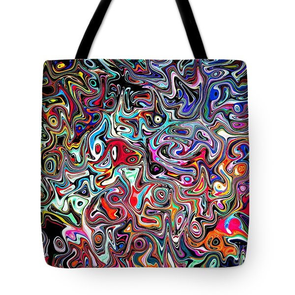 Carnival An Abstract Modern Contemporary Digital Art Tote Bag by Annie Zeno