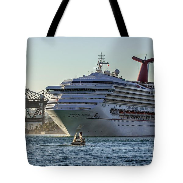 Carnival Cruise Line Destiny Tote Bag by Rene Triay Photography