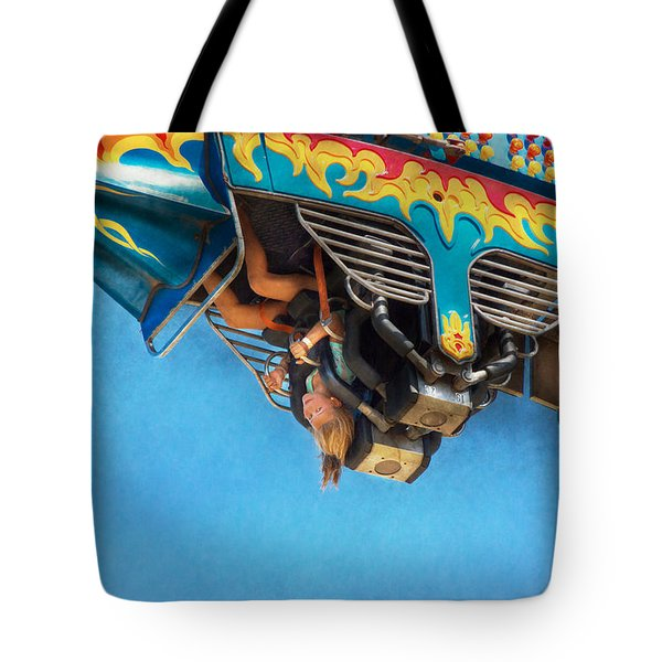 Carnival - Ride - The Thrill Of The Carnival  Tote Bag by Mike Savad