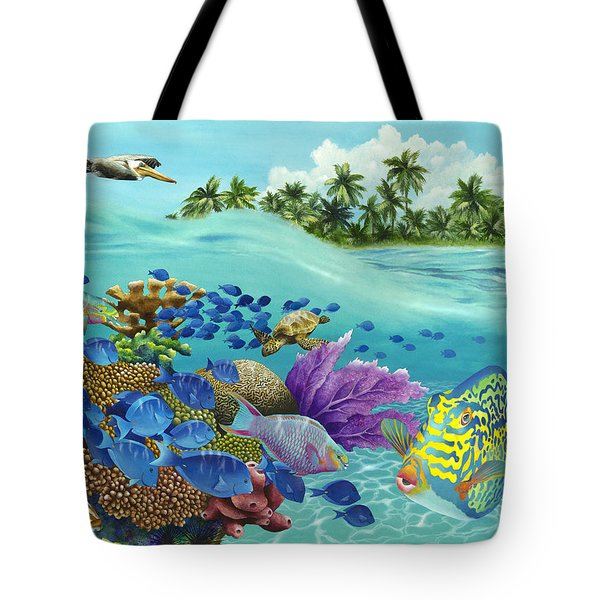 Coral Carnival Tote Bag by Carolyn Steele