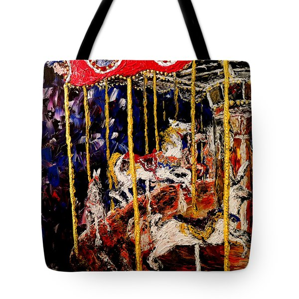 Carousel  Main Attraction  Tote Bag by Mark Moore