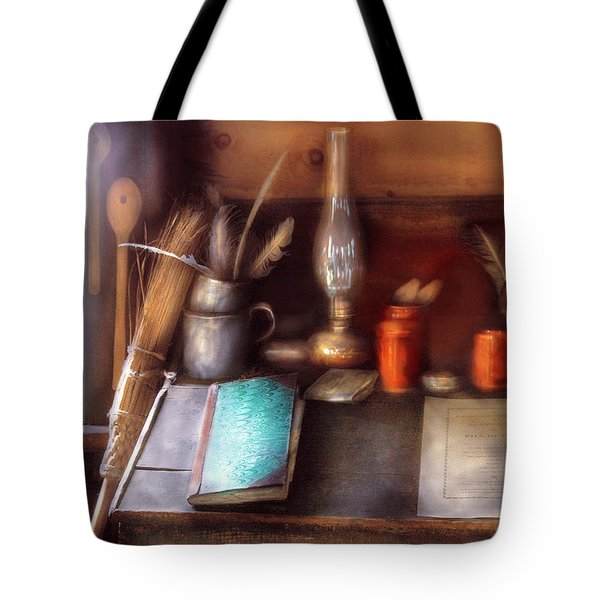 Carpenter - In a carpenter's workshop  Tote Bag by Mike Savad