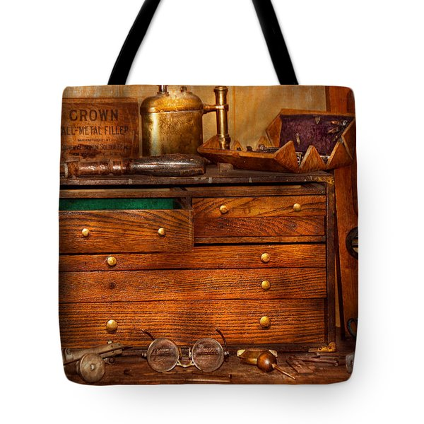 Carpentry - Tools - In My Younger Days  Tote Bag by Mike Savad