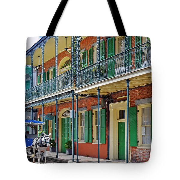 Carriage Ride New Orleans Tote Bag by Christine Till
