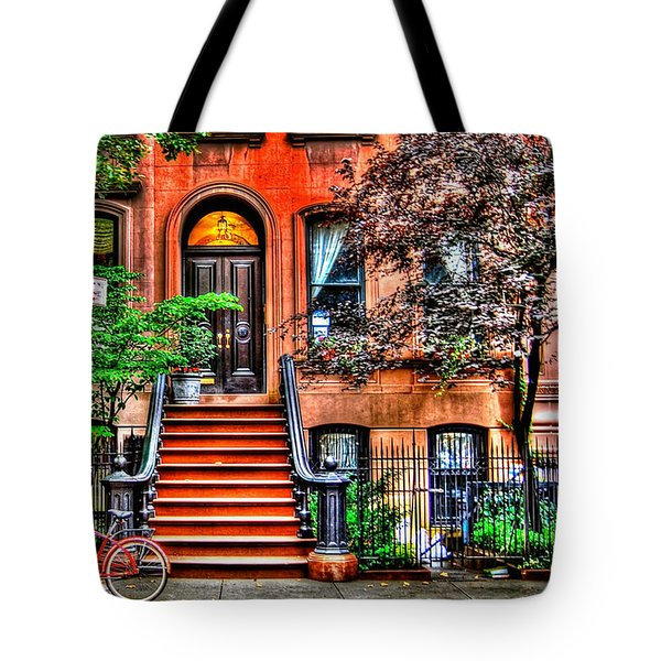Carrie's Place - Sex and the City Tote Bag by Randy Aveille