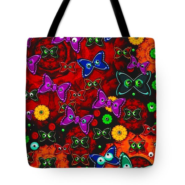 Cartoon In Happy Style Pop Art Tote Bag by Pepita Selles
