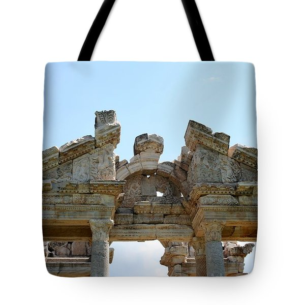 Carved Marble Of The Monumental Gate Tote Bag by Tracey Harrington-Simpson
