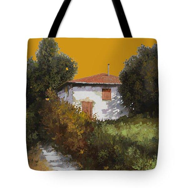 Casa Al Tramonto Tote Bag by Guido Borelli