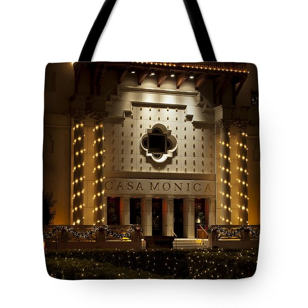 Casa Monica Tote Bag by Kenneth Albin
