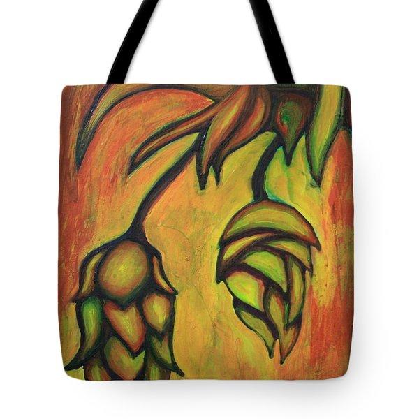 Cascade Hops Tote Bag by Alexandra Ortiz de Fargher