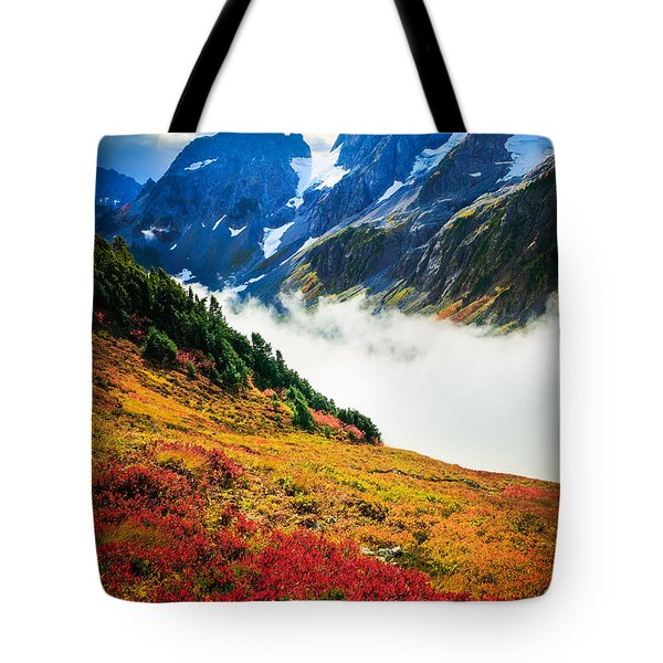 Cascade Pass Peaks Tote Bag by Inge Johnsson
