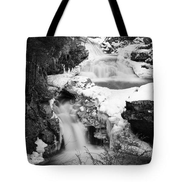 Cascades of Velvet Tote Bag by Luke Moore