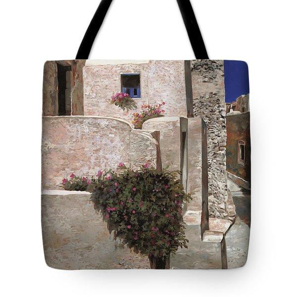 case a Santorini Tote Bag by Guido Borelli