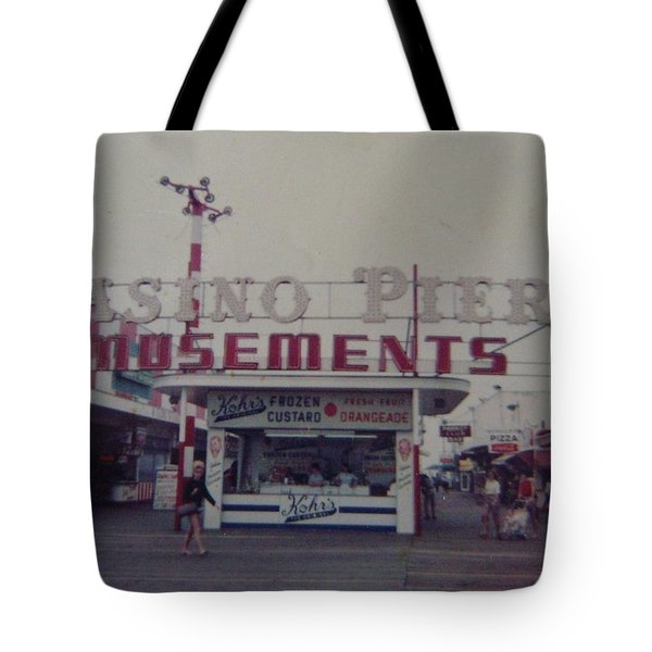 Casino Pier Amusements Seaside Heights NJ Tote Bag by Joann Renner