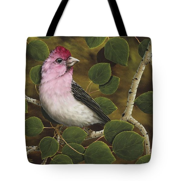 Cassins Finch Tote Bag by Rick Bainbridge