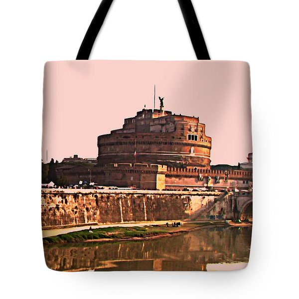 Castel Sant 'Angelo Tote Bag by BRIAN REAVES