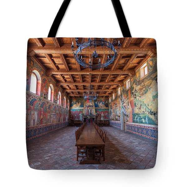 Castelle Di Amorosa Dining Hall Tote Bag by Scott Campbell
