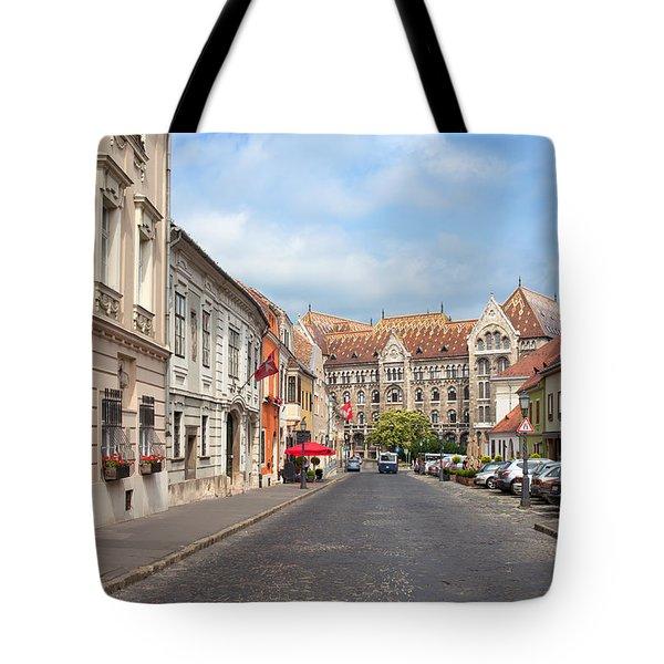 Castle District In Budapest Tote Bag by Artur Bogacki