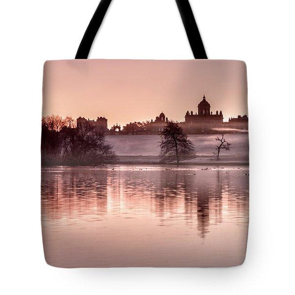 Castle Howard Dawn Tote Bag by Janet Burdon