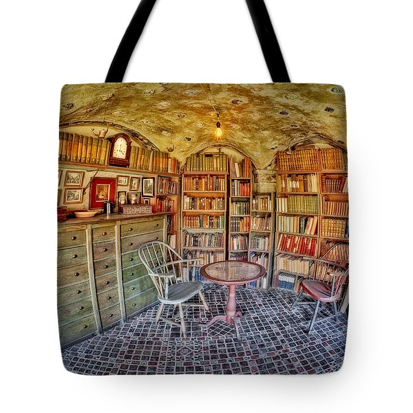 Castle Map Room Tote Bag by Susan Candelario