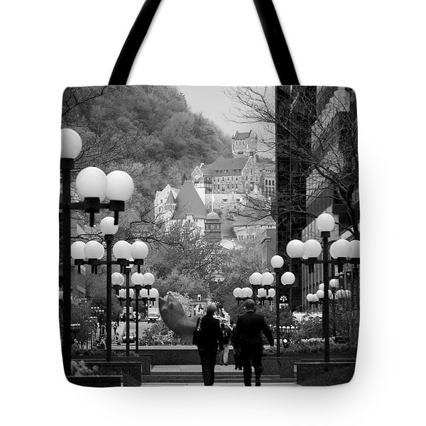 Castle On A Hill Tote Bag by Lisa Knechtel