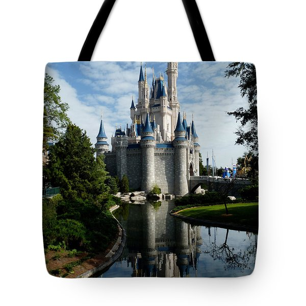 Castle Reflections Tote Bag by Nora Martinez