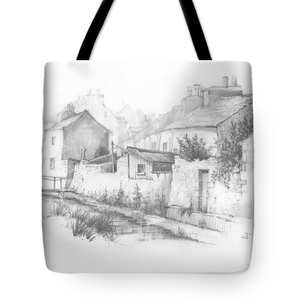Castletown Sketch Tote Bag by Paul Davenport