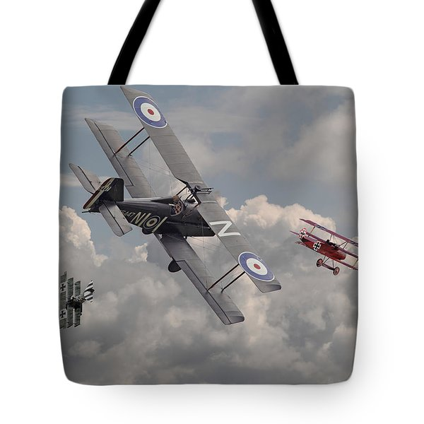 Cat among the Pigeons Tote Bag by Pat Speirs