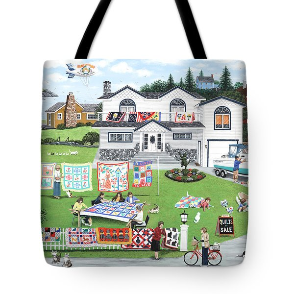 Cat Lovers Society  Tote Bag by Wilfrido Limvalencia