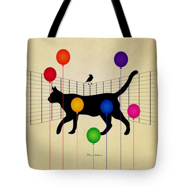 cat Tote Bag by Mark Ashkenazi