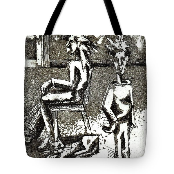 Cat Under Chair Tote Bag by Genevieve Esson