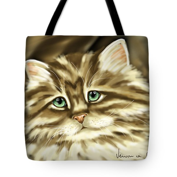 Cat Tote Bag by Veronica Minozzi